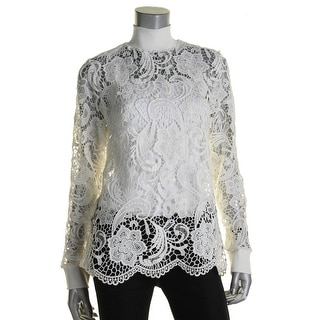 Dylan Gray Womens Pullover Top Lace Long Sleeves - XL