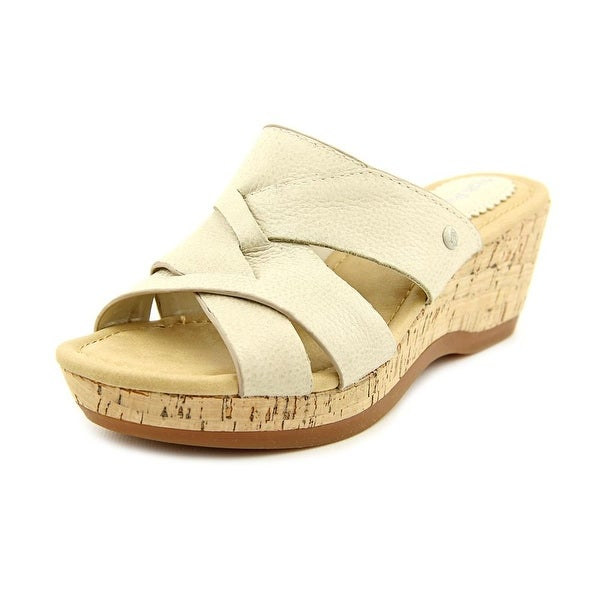 7e6a7b677033 Shop Hush Puppies Janae Farris Open Toe Leather Wedge Sandal - Free ...
