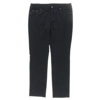 Grace Elements Womens Casual Pants Flat Front Stretch - 14