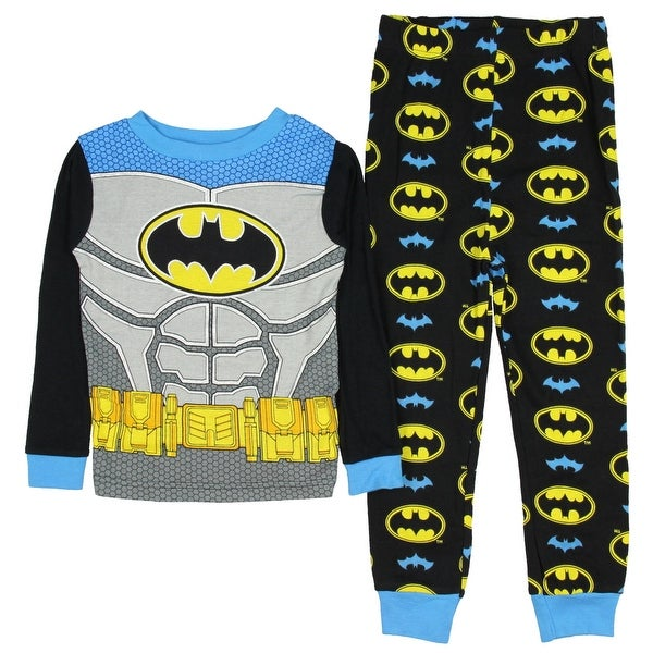 Shop DC Comics Batman Little Boys  New look Long Sleeve Pajamas Cotton  Pajamas Tight Fit - Free Shipping On Orders Over  45 - Overstock - 18821132 d810d77f4