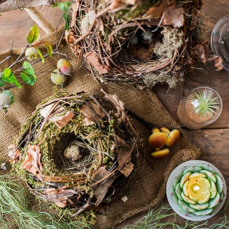 RusticReach Decorative Natural Birds Nest (Cone Shape)