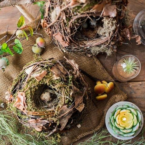 RusticReach Decorative Natural Bird's Nest