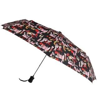 Leighton Women's Auto Open Accessory Print Compact Umbrella - One size
