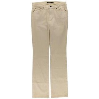 Lauren Ralph Lauren Womens Bootcut Jeans Denim Shimmer