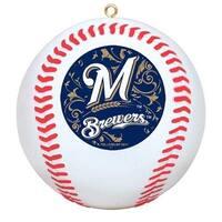 Milwaukee Brewers Mini Replica Baseball Christmas Tree Ornament