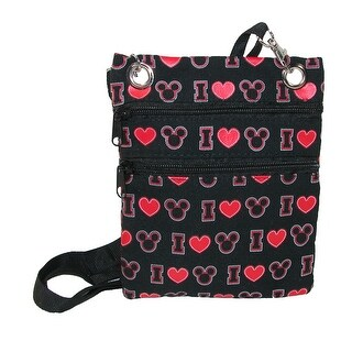 Disney I Love Mickey Passport Crossbody Bag - Black