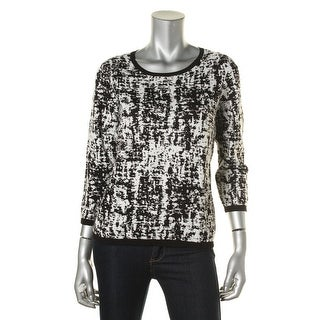 Vince Camuto Womens Stretch Woven Pullover Sweater - M