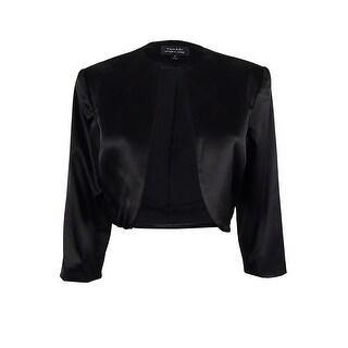 Tahari Women's 3/4 Sleeve Bolero Blazer Jacket