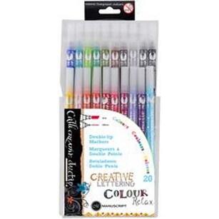 - Manuscript Callicreative Duo Tip Pens 20/Pkg