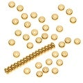22K Gold Plated Heishe Spacers 4mm Beads (100) - Thumbnail 0