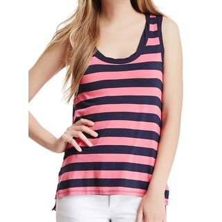 Ella Moss NEW Blue Women's Size Medium M Scoop-Neck Striped Tank Top