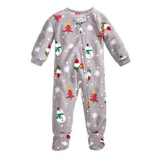 Family PJs Snowman Footed Pajamas Holiday Fleece