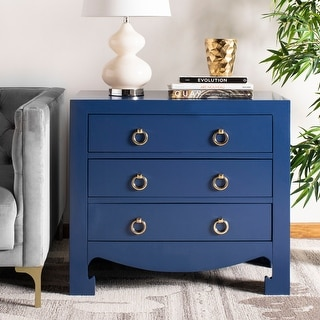 Link to Safavieh Dion 3 Drawer Chest - Lapis Blue / Gold Similar Items in Dressers & Chests