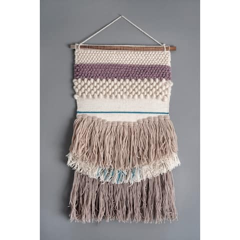"""nuLOOM Hula Textured Striped Wall Hanging - 18"""" x 32"""""""