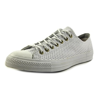 Converse Chuck Taylor All Star Ox Men Round Toe Canvas White Sneakers