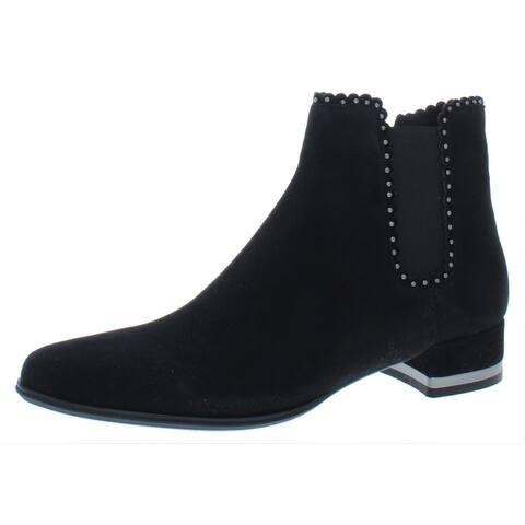 VANELi Womens Aska Ankle Boots Embellished Chelsea - Black Suede - 9 Narrow (AA,N)