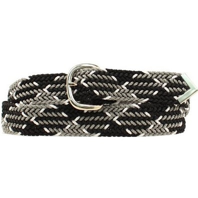 M&F Western Belt Mens Braid Arrow Tip Black Gray White