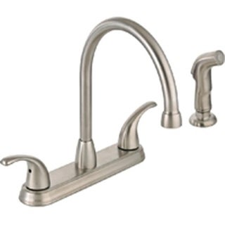 Mintcraft 67387-1104 Kitchen Faucet 2 Handle Spray - Brushed Nickel