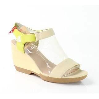Camper NEW Beige Laura Shoes Size 10M Wedges Leather Sandals