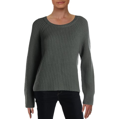 Rag & Bone Womens Pullover Sweater Merino Wool Knit - Sage - L