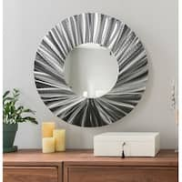 Statements2000 Silver Metal Decorative Wall-Mounted Mirror by Jon Allen - Mirror 118