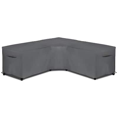 """Patio V Shaped Sectional Sofa Cover Waterproof Anti UV Rip Resistant - 100""""L x 33.5""""D x 31""""H"""