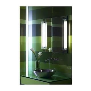 "Robern ML3.530RFSPNN Reflexion Single Light 30"" Plain Bathroom Bath Bar with White Shade"