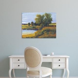 Easy Art Prints Tim OToole's 'Tree's Reflection I' Premium Canvas Art