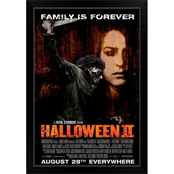 """Halloween 2 - Movie Poster - Canadian"" Black Framed Print"