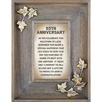 CB Gift YC645 7 x 9 Framed Table Top - 25th Anniversary