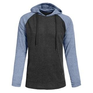 NE PEOPLE Mens Basic Lightweight Raglan Hoodie T-Shirts [NEMT1002]
