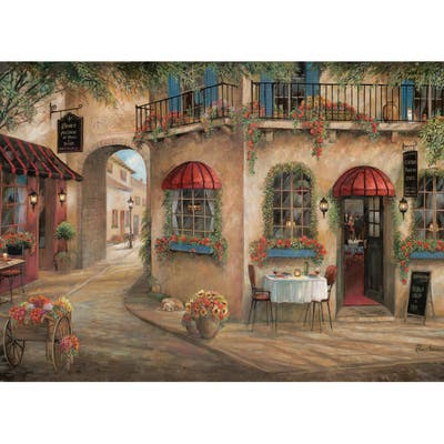 Asher Home Red Floral Cafe Placemat Set