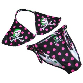 Polka Dot Skull and Crossbones Bikini US Juniors Sizes