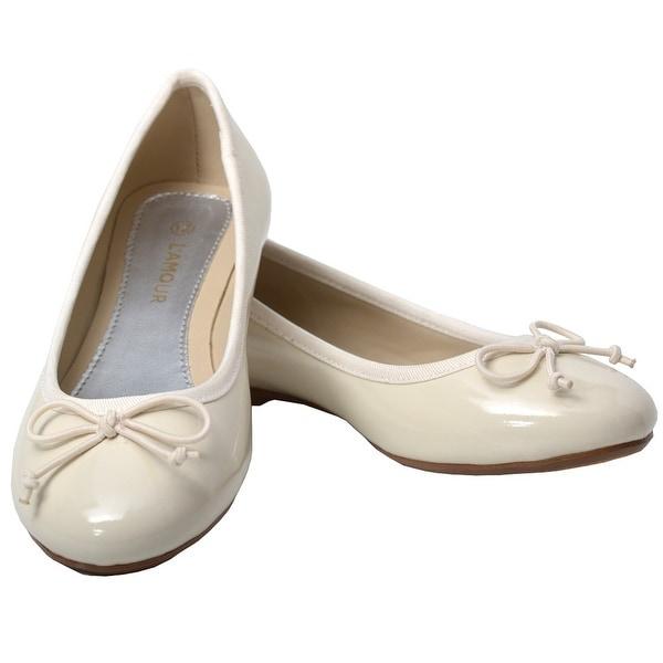 Bow Flat Dress Shoes 8 Toddler-11 Kids