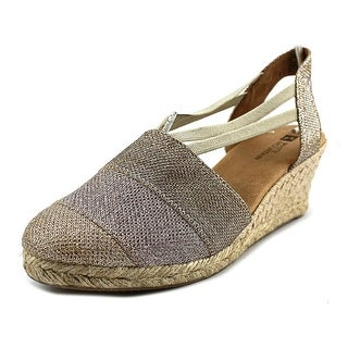 White Mountain Supreme Women Round Toe Canvas Gold Espadrille