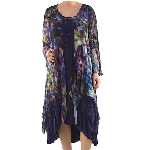 LA MOUETTE Women's Plus Size Digital Print Dress