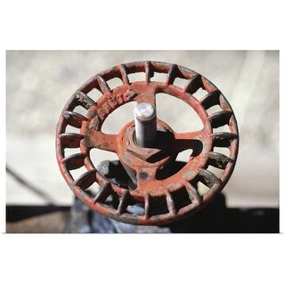"""""""Wheel from oil well"""" Poster Print"""