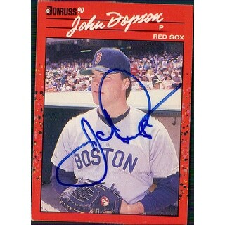 Signed Dopson John Boston Red Sox 1990 Donruss Baseball Card autographed