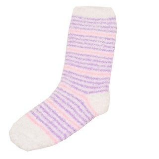 Soft & Cozy Girls Purple Thin Stripe Patterned Socks 9-11