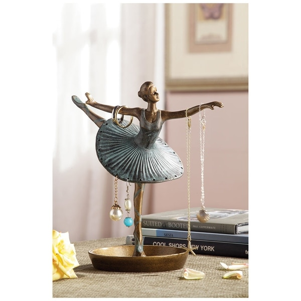 Ballerina Figurine Jewelry Holder