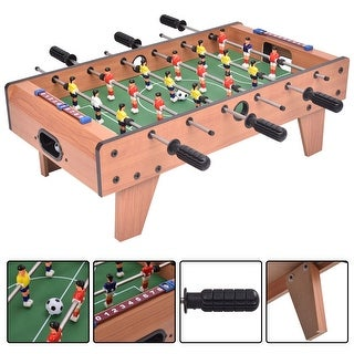 Costway 27'' Foosball Table Competition Game Room Soccer football Sports Indoor w/ Legs - as pic
