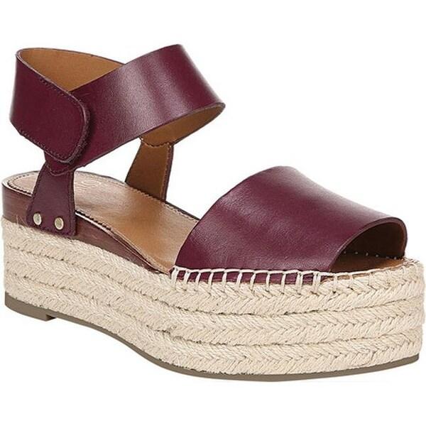 6d248ccd008 Sarto by Franco Sarto Women  x27 s Leo Platform Sandal Wine Vachetta Leather