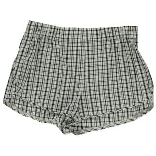 Aqua Womens Flat Front Plaid Casual Shorts