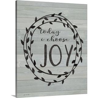 """""""Choose Joy"""" Canvas Wall Art"""