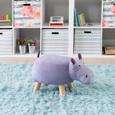 Harlen Purple Hippo Kids Stool