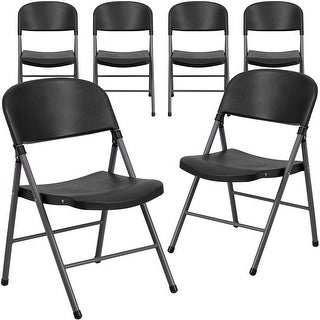 Link to Plastic Folding Chair with Charcoal Frame (Set of 6) Similar Items in Home Office Furniture