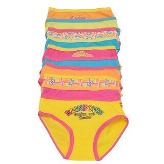 Sweet n Sassy Little Girls Multi Color Rainbow 10 Pc Underwear Pack