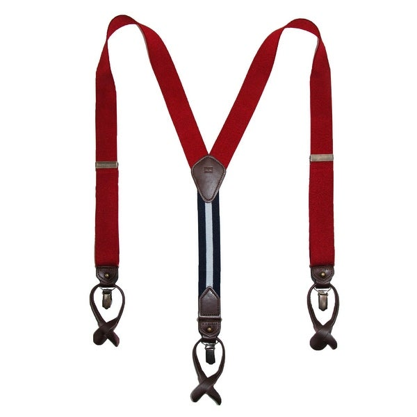 Tommy Hilfiger Men's Elastic Convertible Button & Clip End Suspenders