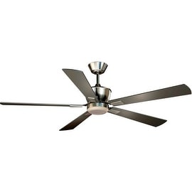 """Vaxcel Lighting F0017 Geneva 52"""" 5 Blade DC Motor Indoor Ceiling Fan - Remote Control, Light Kit and Blades Included"""