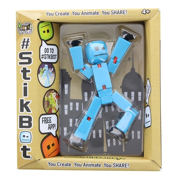 "Stikbot 3"" Action Figure: Solid Light Blue - multi"